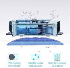 aspirateur robot laveur Proscenic 820T performances